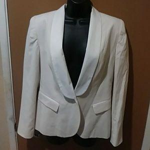 Cream and White H& M Blazer sz 8